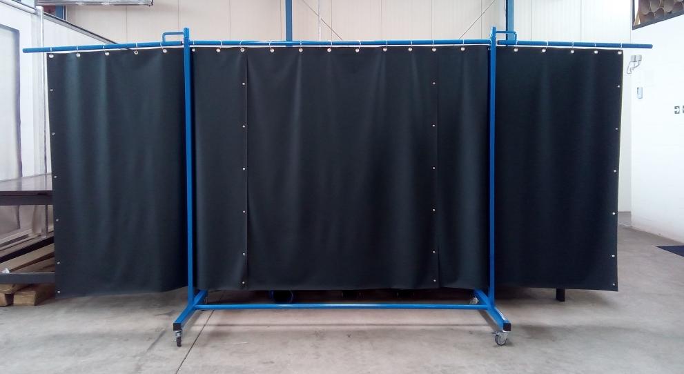 Schweißerschutzvorhang 3teilig Foto 1