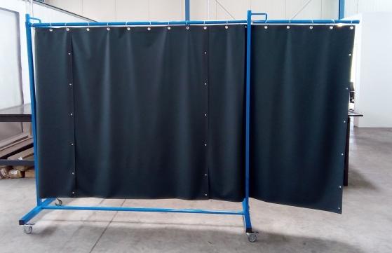 Schweißerschutzvorhang 3teilig Foto 2B